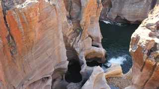 File image: Marvel at Bourke's Luck Potholes fascinating rock features from the bridges or designated lookout platform.