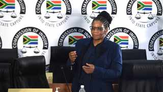 South Africa - Johannesburg - 19 April 2021 - Speaker of the National Assembly Thandi Modise appeared before the Commission of Inquiry into Allegations of State Capture led by Deputy Chief Justice Raymond Zondo. Picture: Itumeleng English/African News Agency(ANA)