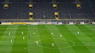 Professional soccer leagues around Europe are gearing up for a return to action following the novel coronavirus stoppage, but some are more advanced than others. Photo: AP Photo/Martin Meissner