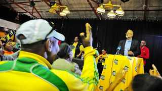 Ebrahim Rasool delivers his speech at the UDF Revival Event, which took place at the Rocklands Civic Centre in Mitchells Plain. File picture: Ross Jansen