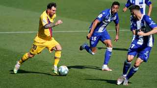 Barcelona's Lionel Messi goes on a trademark run in La Liga. Picture: Vincent West/Reuters