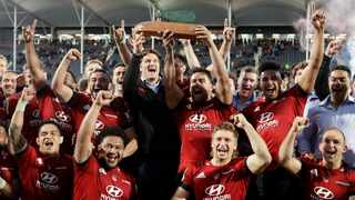 The Crusaders clinched the Super Rugby Aotearoa title over the weekend. Mark Baker/AP