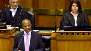 Deputy President David Mabuza responding to oral questions in the National Assembly. Picture: Elmond Jiyane/GCIS.