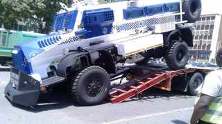 Police are investigating a case of culpable homicide after a man was allegedly knocked by a metro police armoured vehicle.