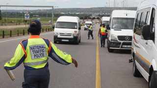 Taxis are checked for compliance at a roadblock on the N1. Picture: Jacques Naude/African News Agency (ANA)