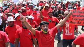 Cosatu members during a march. Picture: Doctor Ngcobo/African News Agency(ANA)