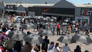 Access Park saw long winding queues of people outside Reebok and Nike entrance doors on Black Friday. Picture: Tracey Adams/African News Agency (ANA)