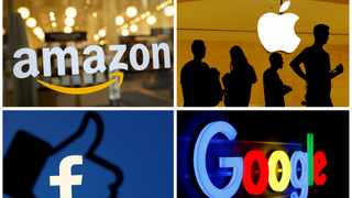 The logos of Amazon, Apple, Facebook and Google in a combination photo from Reuters files. File picture: Reuters