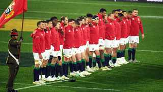 British and Irish Lions players seen at the anthem ceremony during their tour to New Zealand on Saturday 01st July 2017. Photo: Raghavan Venugopal / www.Photosport.nz