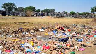 A illegal dumping site next to the Eersterust cemetery. Picture: Bongani Shilubane/African News Agency (ANA)
