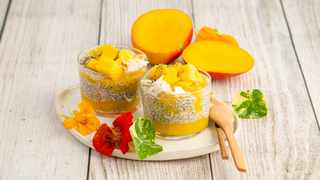 Mango and chia seed pot. Picture: Supplied