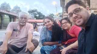 Formerly from Durban, Enver Govender with, from left, his daughter Nazreen, wife Gowri and son Kamesh in Chennai, India. Govender, the editor of online magazine Chennai News, said the country was in a state of shock.