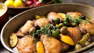 Chicken with olives. Picture: Supplied