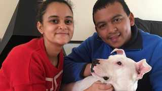 Flash was adopted after two years at the Cape of Good Hope SPCA by his new owners, Ryan Africa and Jade Everts. Picture: Supplied