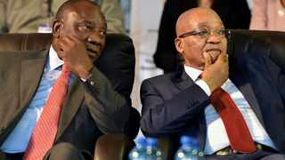 Prresident Cyril Ramaphosa and former president Jacob Zuma. File picture: GCIS
