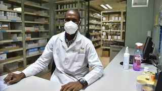 Pharmacist assistant Marcus Monyepao at the dispensary in the FF Ribeiro Clinic, Sammy Marks Square. Picture: Thobile Mathonsi/African News Agency (ANA)