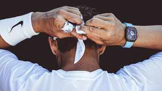 The million-dollar Richard Mille watch worn by Rafael Nadal at the French Open. Picture: Renaud Corlouër