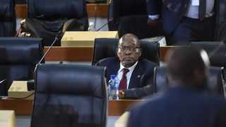 Former President Jacob Zuma seated at the Zondo Commission of Inquiry into allegations of state capture. Picture: Itumeleng English/African News Agency(ANA)