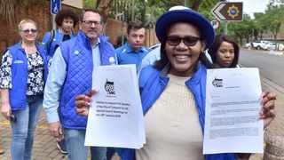 DA regional leader Mpho Mehlape-Zimu said the party's federal council has issued instructions to lower structures on how to conduct political activities in keeping with the Covid-19 regulations. Picture: Oupa Mokoena/African News Agency (ANA)