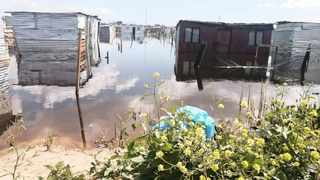 Shacks in the Ethembeni informal settlement shacks in Khayelitsha continue to be flooded by sewage that spilled when a stormwater pipe burst over a month ago.