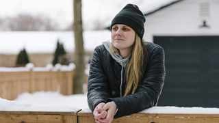 Kaitlin Denis is a 30-year-old former Division I soccer player who is on long-term disability after being diagnosed with Covid-19. Picture: Lucy Hewett / The Washington Post
