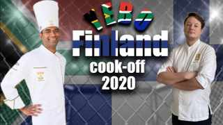 Chef Dion Vengatass of SA and Chef Kalle Tanner of Finland held a cook-off, making traditional dishes from the other's country.