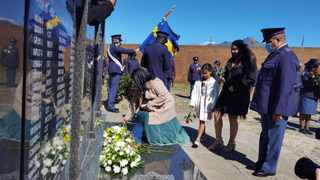 The family of Sergeant David Hoffman was shot and killed last year. Picture: Sisonke Mlamla/Cape Argus