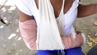 Merle Crouster said her husband sustained a bruised toe while she suffered a broken collarbone and elbow.