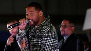 """Cast members Will Smith and Martin Lawrence attend the premiere of """"Bad Boys For Life"""" in Los Angeles. Picture: Reuters"""