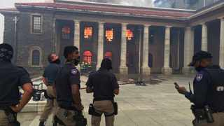 UCT on fire. Students have been told to evacuate the premises. Photo: Cape Town Metro