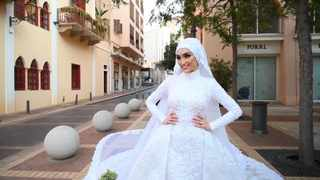 A screengrab from videoposted on Youtube by RTÉ News shows Israa Seblani posing for her wedding.
