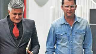 Cape Town-160428-Family Lawyer(left) and Florian Blochliger (right) the late Franziska Blochliger outside Wynberg magistrate court where four supects appear in for the death of Franziska Blochliger Picture by BHEKI RADEBE