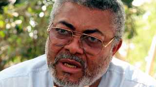 Ghana's former president Jerry Rawlings gestures during a Reuters interview at his home in Accra in 2007. File picture: Tugela Ridley/Reuters