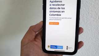 The CoronApp-Colombia mobile app, which the Colombian government has asked residents to download to learn about the coronavirus disease. Picture: Reuters/Paresh Dave
