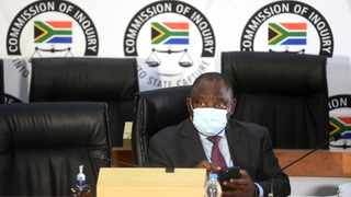 President Cyril Ramaphosa appears before the Commission of Inquiry into Allegations of State Capture led by Deputy Chief Justice Raymond Zondo. Picture: Itumeleng English/African News Agency (ANA)