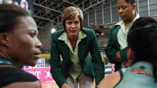 South Africa coach Dorette Badenhorst (centre) on Tuesday named her final squad for the Spar International Netball Series against Malawi. Photo: Gavin Barker/BackpagePix