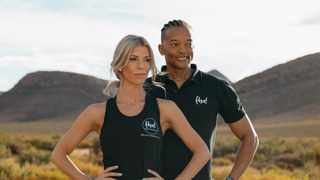 Team Mindful Movement with Talitha van Dyk and Lucas Mthenjane. Image Supplied.