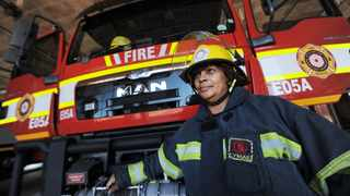 Firefighter, Ronel January awaits her next call out to serve the people of Cape Town. With the fire season slowly approaching firefighters are concerned and wary about the incoming flux of not only emergency calls but attacks and harassment in the local communities they serve. Photographer: Armand Hough/African News Agency(ANA)