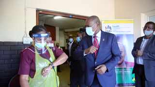 Minister of Health Dr Zweli Mkhize at King Edward Hospital in Umbilo, Durban. Picture: Motshwari Mofokeng/African News Agency (ANA)
