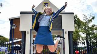 Hoerskool Waterkloof's Karla Reinecke, 18, is the top maths and science learner in the country. She achieved 100% for physical science, 100% for AP (arithmetic progression) maths and 98% for maths in the class of 2020. Picture: Thobile Mathonsi/African News Agency(ANA)