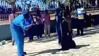Sudanese police arrested dozens of women protesting against laws they say humiliate women after a video of a woman being flogged in public appeared on the Internet. Photo: Supplied