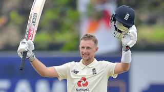 England captain Joe Root starred with the bat as he scored 228 to lead England to 421 in their first innings against Sri Lanka. Picture: @englandcricket via Twitter