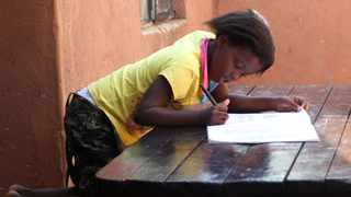 South Africa - Pretoria - 25 March 2020 - Grade 2, Omphile Bokaba doing her schoolwork home in Nellmapius. All South African schools have closed due to the coronavirus. Picture: Jacques Naude/African News Agency (ANA).