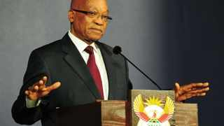 President Zuma during a press briefing after a meeting with the National Planning Commission at the Union Buildings in Pretoria. South Africa. 03/07/2013