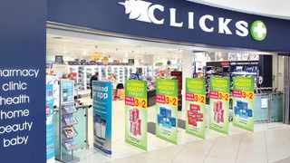 Pharmacy chain Clicks Group said on Thursday it expects its full-year earnings to be up 8% to 13% after reporting a 9.5% rise in half-year earnings, boosted by consumer demand for preventative medicine and new private hospital business. File photo.