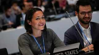 Members of the US delegation attend climate change negotiations, in Madrid, Spain, in December 2019. File picture: Nacho Doce/Reuters