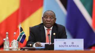 South African President Cyril Ramaphosa chairs the second phase of the roundtable meeting of the 2018 Focac Beijing Summit at the Great Hall of the People in Beijing. Picture: Ju Peng/Xinhua