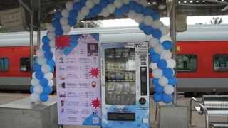 Bengaluru railway station installs mask, sanitiser vending machines. Picture: IANS