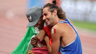Barshim, Tamberi high jumping for joy after Olympic gold feat