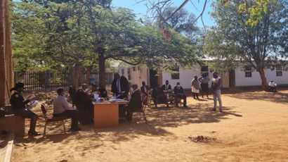 Conducting of court cases under trees angers union